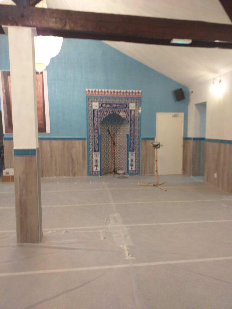 Travaux de la mosquée