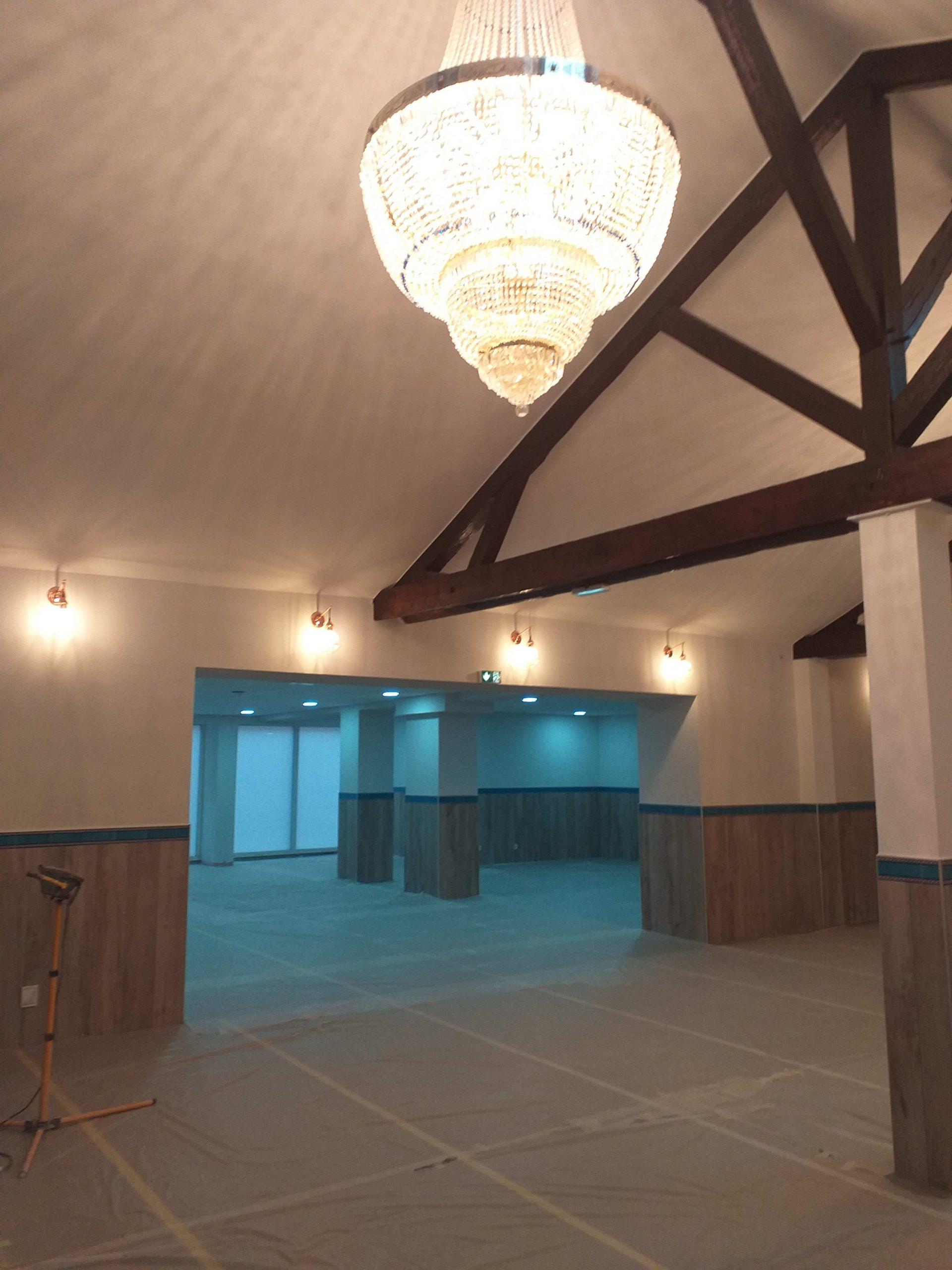 La mosquée en travaux