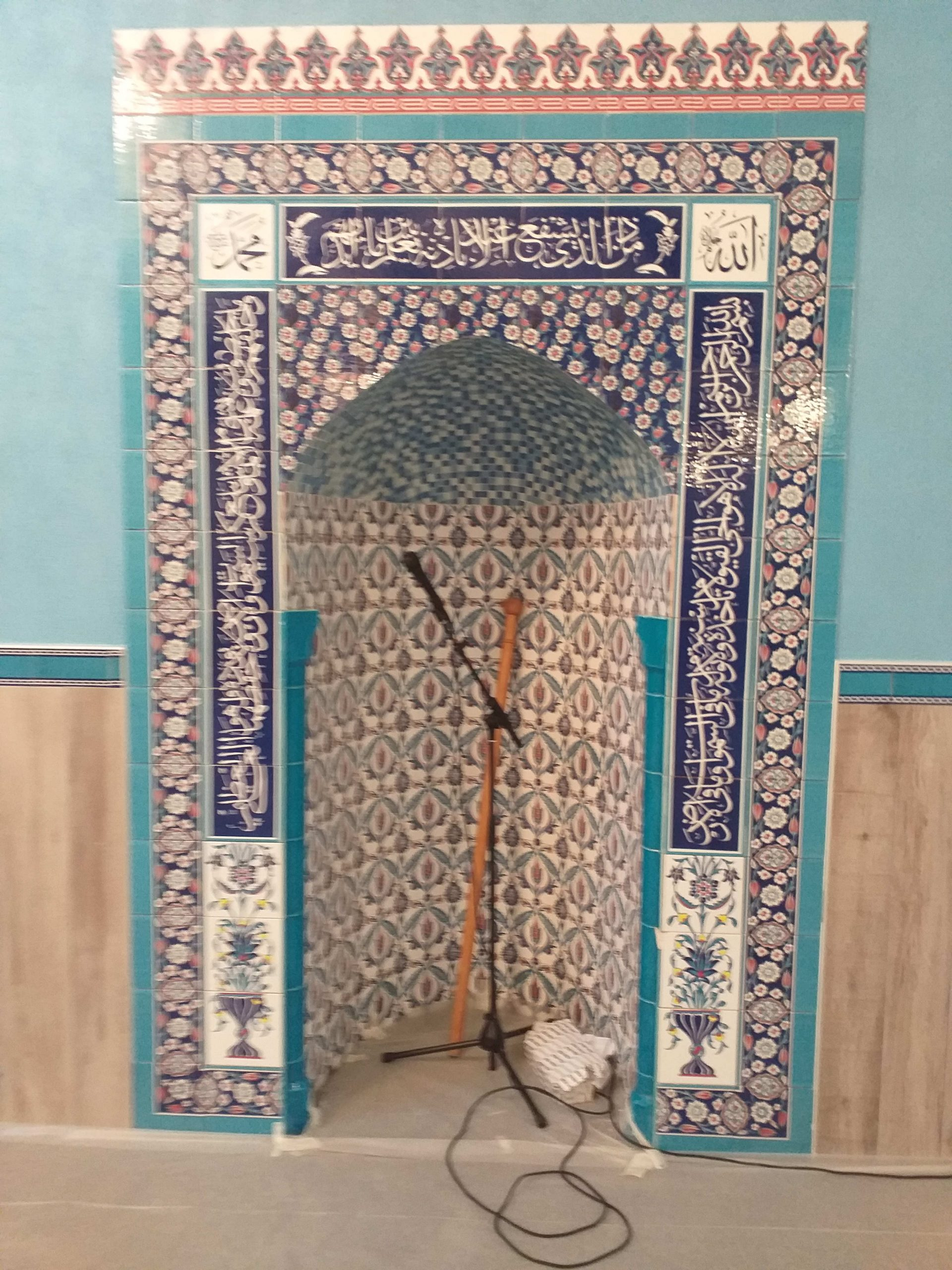 Les travaux de la mosquée